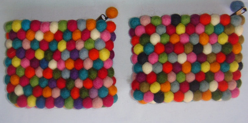 Handmade Felt Ball Purse