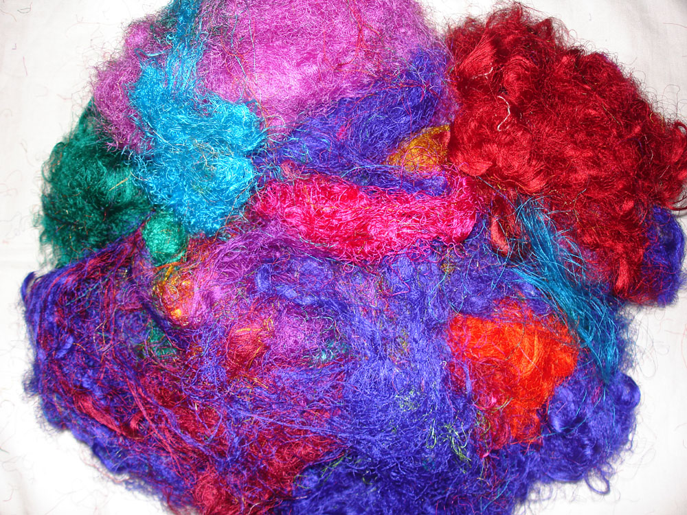 Recycled Sari Silk Fiber