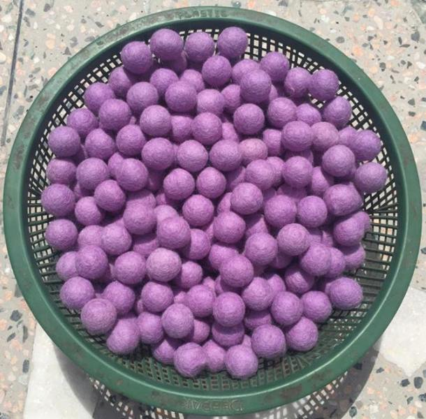 Handmade Felt Light Purple Balls